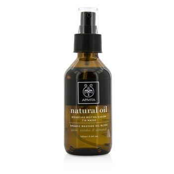 Apivita Natural Oil - Olive, Jojoba & Almond Organic Massage Oil Blend  100ml/3.4oz