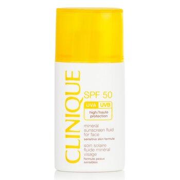 Clinique Mineral Sunscreen Fluid For Face SPF 50 - Sensitive Skin Formula  30ml/1oz