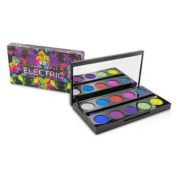 Urban Decay Electric Pressed Pigment Palette: 10x Pressed Pigment, 1x Double Ended Pressed Pigment Brush  -