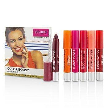 Bourjois Colorboost Glossy Finish Lipstick Set  6pcs