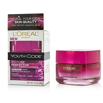 L'Oreal Youth Code Texture Perfector Day/Night Cream - For All Skin Types (Box Slightly Damaged)  48g/1.7oz
