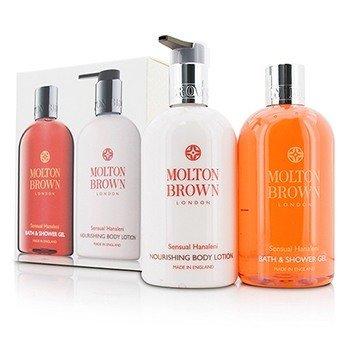 Molton Brown Sensual Hanaleni Bath & Body Set: Bath & Shower Gel 300ml/10oz + Nourishing Body Lotion 300ml/10oz  2pcs