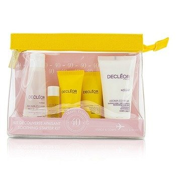 Decleor Soothing Starter Kit:Micellar Water 50ml+Serum 5ml+Harmonie Calm Milky Cream 15ml+Gel-Cream Mask 15ml+Body Milk 50ml+Bag  5pcs+1bag