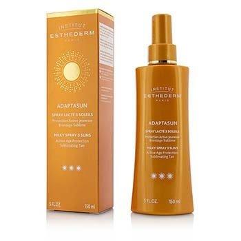 Esthederm Adaptasun Milky Spray 3 Suns Active Age Protection Sublimating Tan - Strong Sun - For Body  150ml/5oz