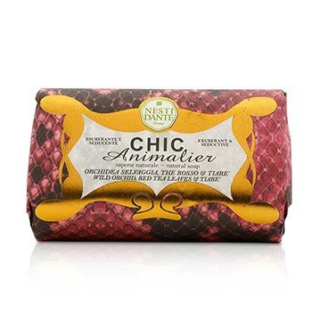 Nesti Dante Chic Animalier Natural Soap - Wild Orchid, Red Tea Leaves & Tiare  250g/8.8oz