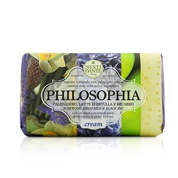Nesti Dante Philosophia Natural Soap - Cream - Rosewood, Birch Milk & Black Iris With Cream & Pearl Extract  250g/8.8oz