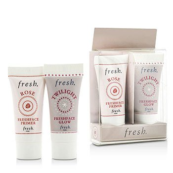 Fresh Prime & Glow Set Duo Pack : 1x Mini Rose Freshface Primer, 1x Mini Twilight Freshface Glow  2 Sets