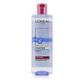 L'Oreal 3-In-1 Micellar Water (Moisturizing) - Even For Sensitive Skin  400ml/13.3oz