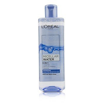 L'Oreal 3-In-1 Micellar Water (Refreshing) - Even For Sensitive Skin  400ml/13.3oz
