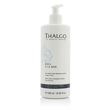 Thalgo Eveil A La Mer Micellar Cleansing Water (Face & Eyes) - For All Skin Types, Even Sensitive Skin (Salon Size)  500ml/16.9oz
