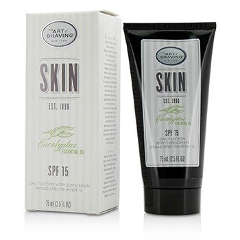 The Art Of Shaving Eucalyptus Essential Oil Daily Lotion With Sunscreen SPF 15 (Exp. Date 10/2017)  75ml/2.5oz