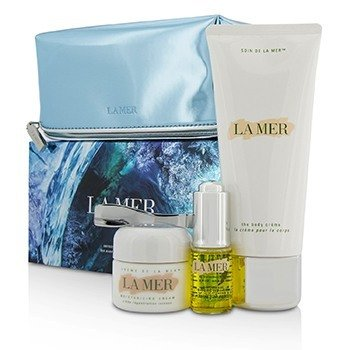 La Mer Sensorial Sensations Set: The Renewal Oil 15ml + Creme De La Mer The Moisturizing Cream 30ml + The Body Creme 200ml +Bag  3pcs+1bag