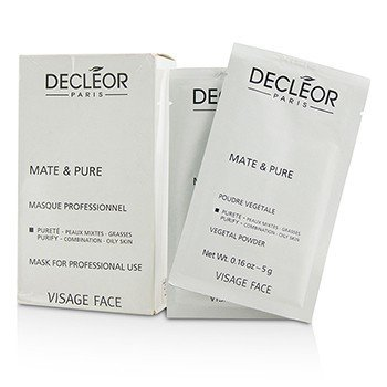 Decleor Mate & Pure Mask Vegetal Powder - C/O Skin (Salon Size, Box Slightly Damaged)  10x5g