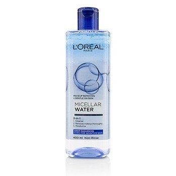 L'Oreal 3-In-1 Micellar Water (Deeping Cleansing) - Even For Sensitive Skin  400ml/13.3oz