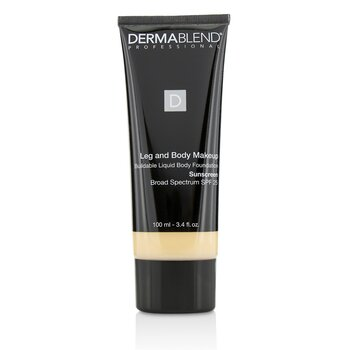 Dermablend Leg and Body Make Up Buildable Liquid Body Foundation Sunscreen Broad Spectrum SPF 25 - #Fair Nude 0N  100ml/3.4oz