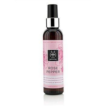 Apivita Rose Pepper Body Reshaping Massage Oil  150ml/5.07oz