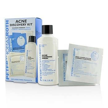 Peter Thomas Roth Acne Discovery Kit: Acne Clearing Wash 57ml + Max Complexion Correction Pads 2pads + Acne-Clear Invisible Dots 24dots  3pcs