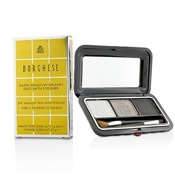 Borghese Satin Shadow Milano Duo With Eyeliner - # 03 Platinum Pietra  4.15g/0.145oz