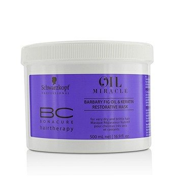 Schwarzkopf BC Oil Miracle Barbary Fig Oil & Keratin Restorative Mask (For Very Dry and Brittle Hair)  500ml/16.9oz