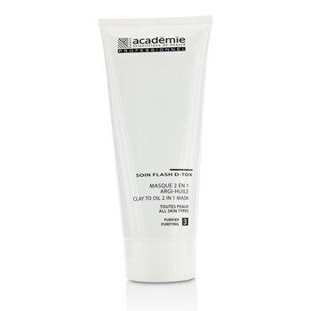 Academie Clay To Oil 2 in 1 Mask - For All Skin Types (Salon Size)  200ml/6.7oz