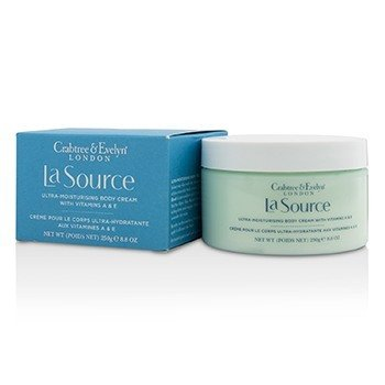 Crabtree & Evelyn La Source Ultra-Moisturising Body Cream with Vitamin A & E  250g/8.8oz