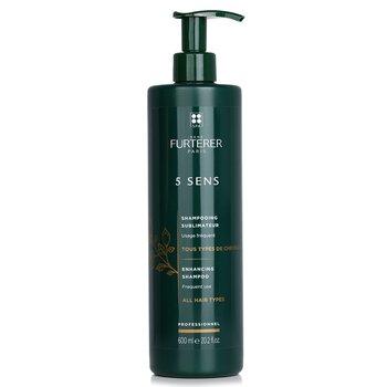 Rene Furterer 5 Sens Enhancing Shampoo - Frequent Use, All Hair Types (Salon Product)  600ml/20.2oz