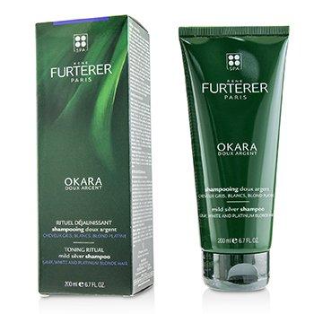 Rene Furterer Okara Toning Ritual Mild Silver Shampoo (Gray, White and Platinum Blonde Hair)  200ml/6.7oz