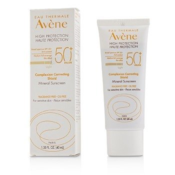 Avene Complexion Correcting Shield Mineral Sunsreen SPF 50+ - #Light (For Sensitive Skin)  40ml/1.35oz