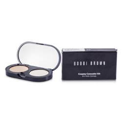 Bobbi Brown New Creamy Concealer Kit - Sand Creamy Concealer + Pale Yellow Sheer Finished Pressed Powder  3.1g/0.11oz