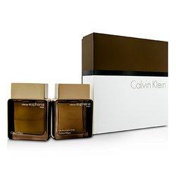 Calvin Klein Euphoria Intense Coffret: Eau De Toilette Spray 100ml/3.4oz + After Shave 100ml/3.4oz  2pcs