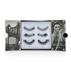 Eylure The New York Edit False Lashes Multipack - # 114, # 118, # 107 (Adhesive Included)  3pairs