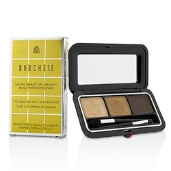 Borghese Satin Shadow Milano Duo With Eyeliner - # 01 Bellezza Brown  4.15g/0.145oz