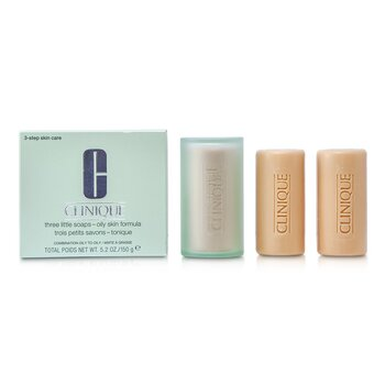 Clinique Sabun 3 Little - Formula Kulit Berminyak  3x50g
