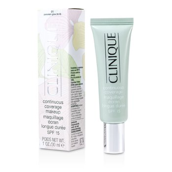 Clinique Continuous Coverage Spf15 - No. 01 Porcelain Glow  30ml/1oz
