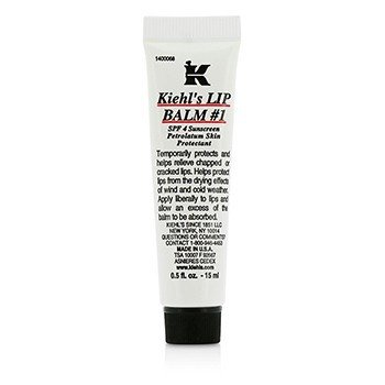 Kiehl's Lip Balm # 1 Tube (SPF 4 Sunscreen Petrolatum Lip Protectant)  15ml/0.5oz