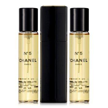 Chanel No.5 Туалетная Вода Спрей и 2 Запасных Блока (Ограниченный Выпуск)  3x20ml/0.7oz