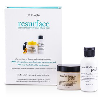 Philosophy Microdelivery Peel Set Desm.t: Lactic/Salicylic Acid Activation Gel + Vitamin C Resurfacing Crystal  2pcs