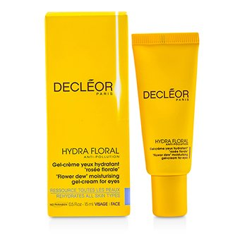 Decleor Hydra Floral Anti-Pollution Flower Dew Gel hidratante-Creme para olhos  15ml/0.5oz