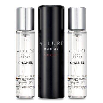 Chanel Allure Homme Sport Eau De Toilette Travel Spray (With Two Refills)  3x20ml/0.7oz