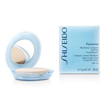 Shiseido Pureness Base Matificante Compacta Sin Aceite SPF15 (Estuche + Repuesto) - # 40 Natural Beige  11g/0.38oz
