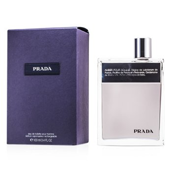 Prada Amber Pour Homme Eau De Toilette Deluxe Refillable Spray  100ml/3.4oz