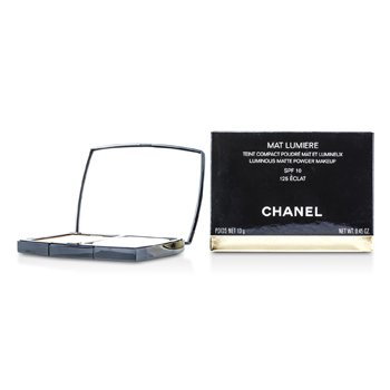 Chanel Mat Lumiere Luminous Matte Powder Makeup SPF10 - # 125 Eclat  13g/0.45oz