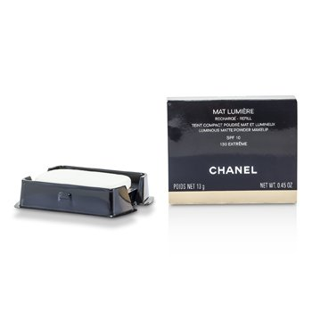 Chanel Mat Lumiere Luminous Matte Powder Makeup Refill SPF10 - # 130 Extreme  13g/0.45oz