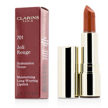 קלרינס Joli Rouge ( ליפסטיק מעשיר לחות עמיד לאורך זמן ) - # 701 Orange Fizz  3.5g/0.12oz