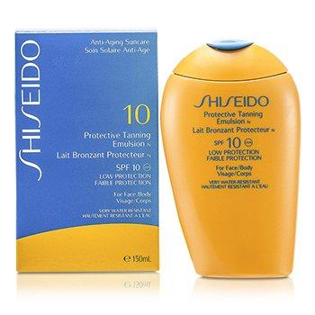 Shiseido Emulsión Protectora Bronceadora N SPF 10 ( Para Cuerpo y Rostro )  150ml/5oz