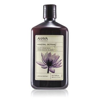 Ahava Mineral Botanic Jab�n Crema Aterciopelado - Lotus Flower & Chestnut ( Piel Sensible )  500ml/17oz