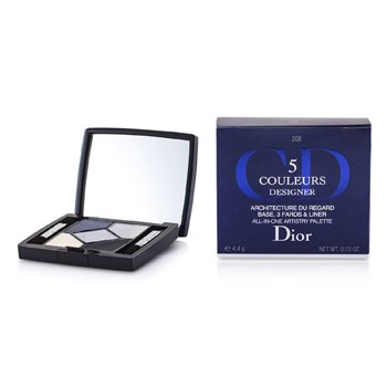 Christian Dior Estojo de sombras 5 Color Designer All In One Artistry - No. 208 Navy Design  4.4g/0.15oz