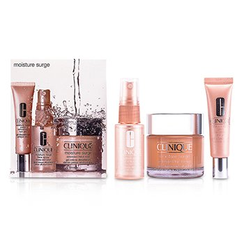 Clinique sada Moisture Surge: krém 75ml+očný gél 15ml+sprej na tvár 30ml  3pcs