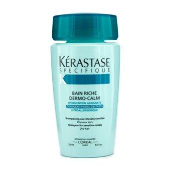 เคเรสตาส แชมพู Kerastase Dermo-Calm Bain Riche ( สำหรับผมแห้งและหนังศีรษะบอบบาง )  250ml/8.4oz