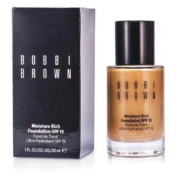 Bobbi Brown Moisture Rich Foundation SPF15 - Alas Bedak - #4.25 Natural Tan  30ml/1oz